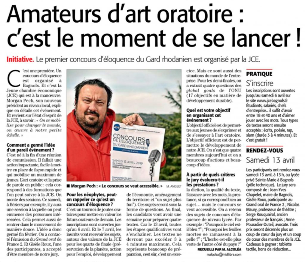 midi libre 04042019 - page 2 concours eloquence